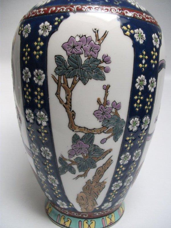 2 chinesische porzellan vasen email handbemalt mit bodenmarke ebay. Black Bedroom Furniture Sets. Home Design Ideas