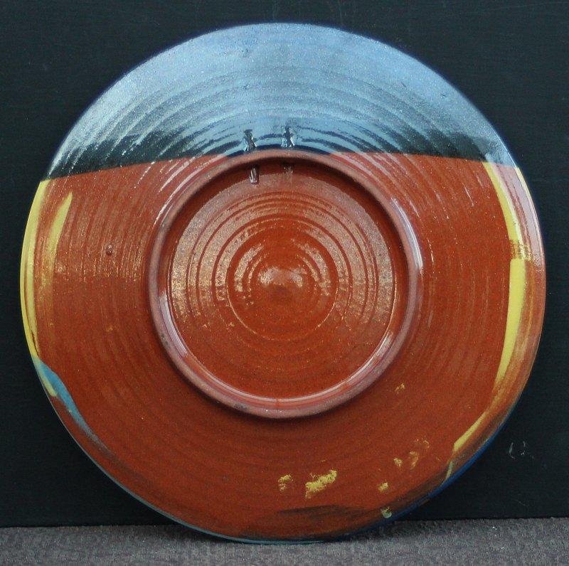 Keramik wandteller abstraktes design mit signatur buxi handgefertigt ebay - Wandteller modern ...