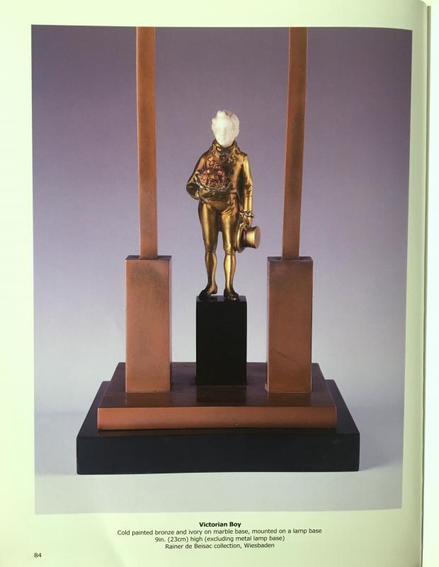 victorian boy lampe ferdinand preiss sammlung rainer de beisac bronze bein ebay. Black Bedroom Furniture Sets. Home Design Ideas