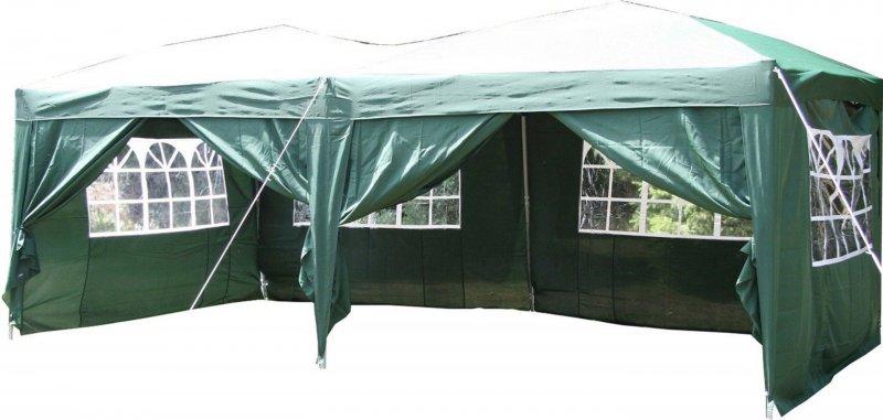 airwave pop up pavillon 6 x 3 m gr n festzelt zelt. Black Bedroom Furniture Sets. Home Design Ideas