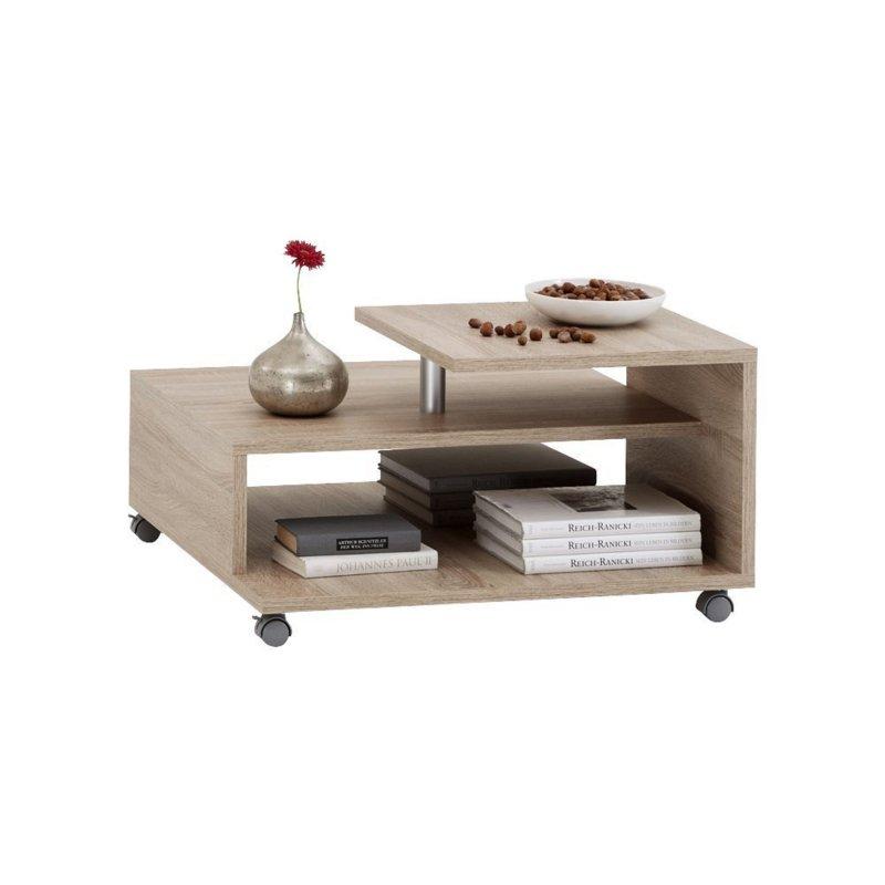 FMD Möbel 638001 Couchtisch Henri 77 x 42 x 77 cm eiche