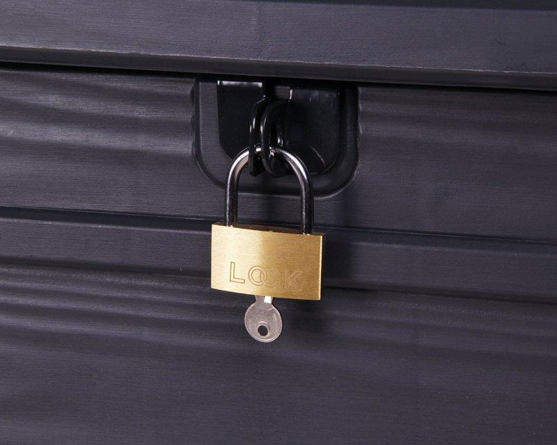 keter kissenbox brightwood auflagenbox gartenbox sitztruhe 455l anthrazit c75 ebay. Black Bedroom Furniture Sets. Home Design Ideas