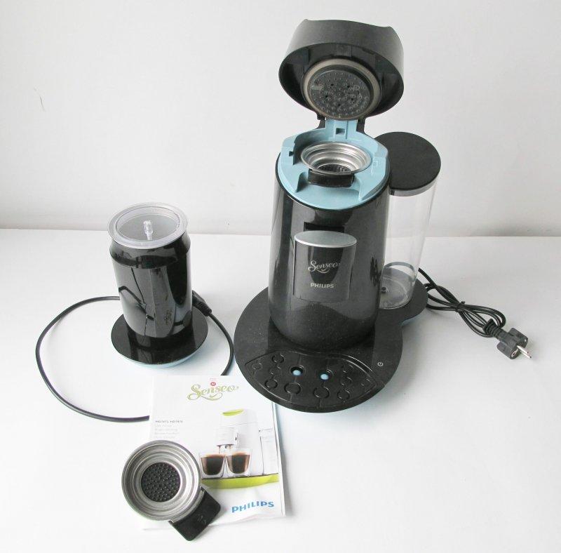 senseo hd7874 60 twist und milk kaffeepadmaschine schwarz blau maschine t10 8710103606642 ebay. Black Bedroom Furniture Sets. Home Design Ideas