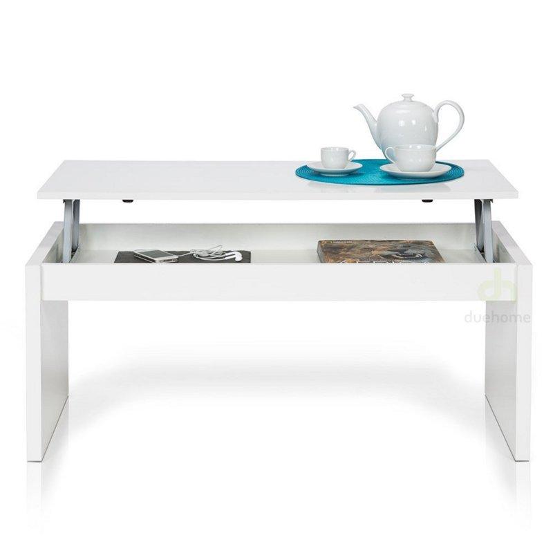 habitdesign 001638bo moderner couchtisch mit h henverstellbarer platte wei u3. Black Bedroom Furniture Sets. Home Design Ideas