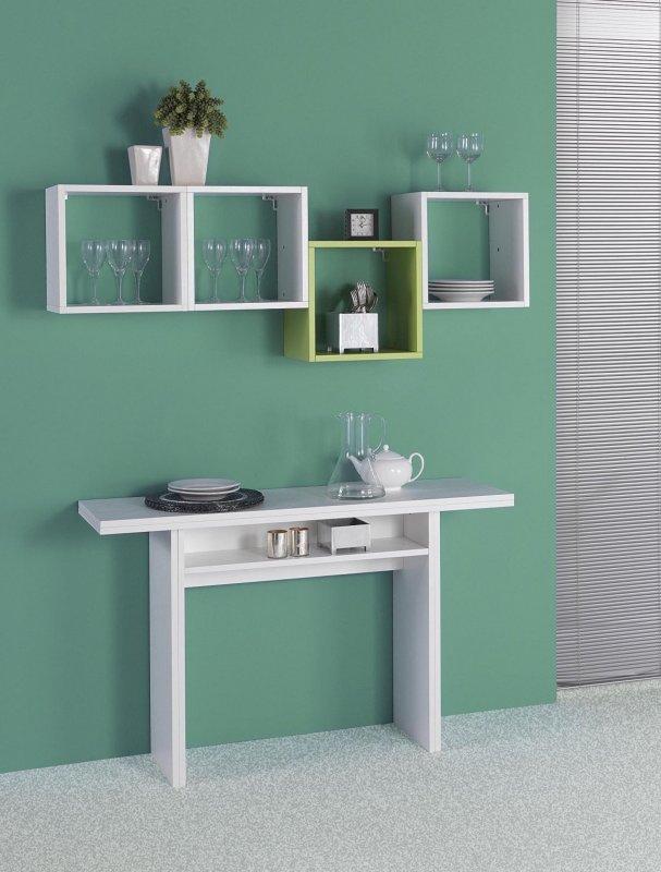 Terraneo el530 klapptisch konsole tisch wei 120x70 35x75 cm telefontisch l6 ebay - Amazon tavoli da cucina ...