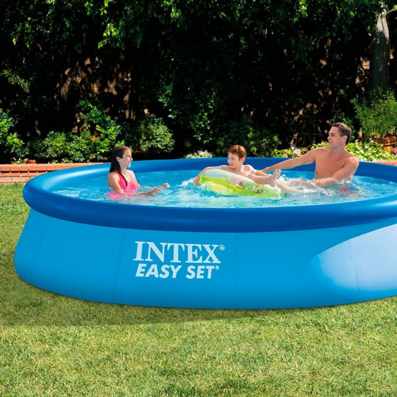 Intex 28143np easy set pool ohne pumpe 396 x 84cm quickup for Garten pool ohne pumpe