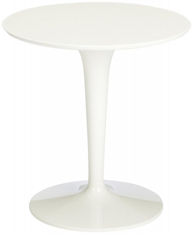 Toptip Esstisch ~ Kartell 860003 Beistelltisch Tip Top Mono weißglänzend Tisch Bistrotisch I C4