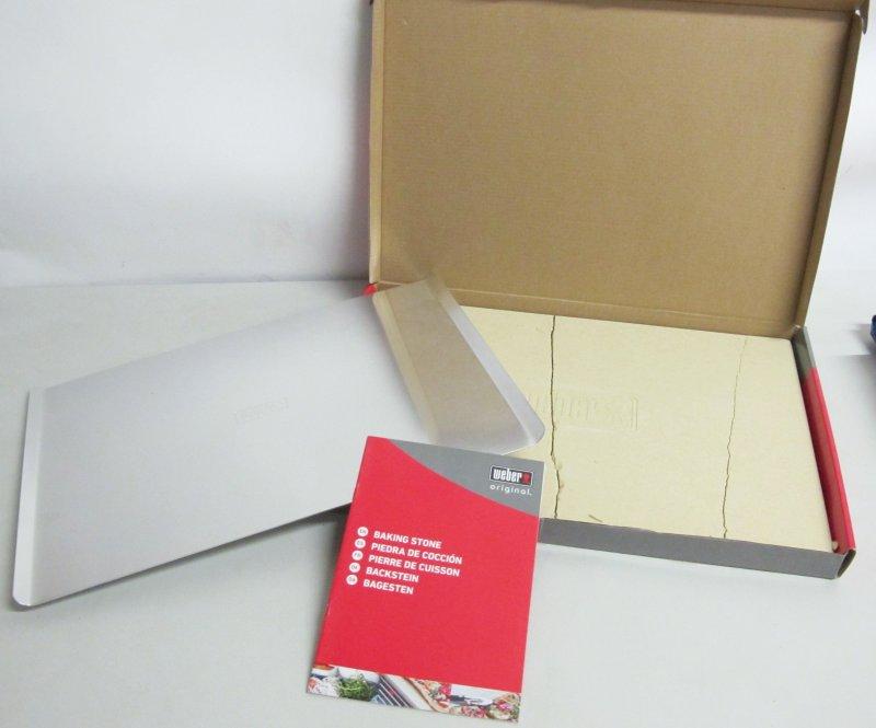 weber pizzastein rechteckig 17059 44x30cm pizza k che backen i3 ebay. Black Bedroom Furniture Sets. Home Design Ideas