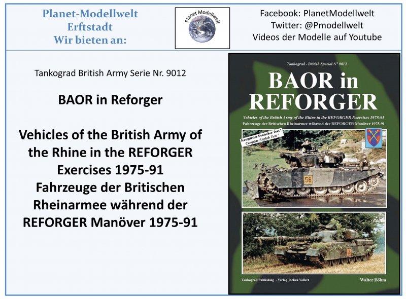 Tankograd 9012 Fahrzeuge der britischen Rheinarmee im Reforger-Manöver BAOR