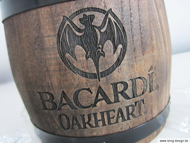 bacardi oakheart ice bucket eiseimer in eichenfass optik. Black Bedroom Furniture Sets. Home Design Ideas