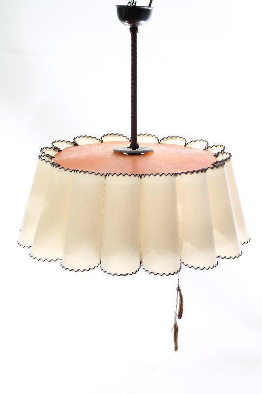 belle antique lampe suspension de 30 ann es lampe art d co ebay. Black Bedroom Furniture Sets. Home Design Ideas