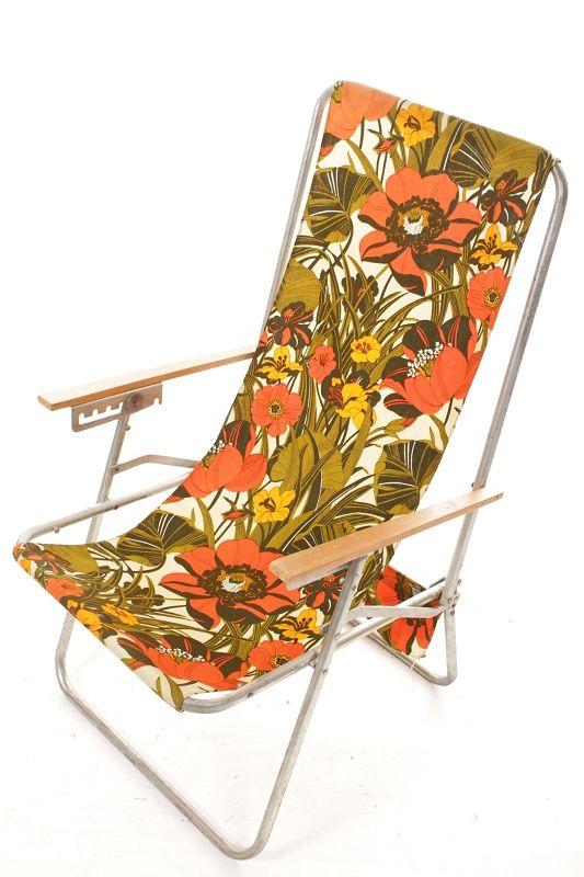 chaise pliante rda r tro culte ann es 70 camping d pliable. Black Bedroom Furniture Sets. Home Design Ideas