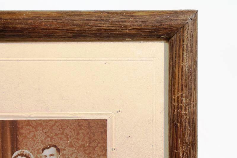 tr s jolie ancien rda cadre photo cadre bois avec tableau 33 x 23cm ebay. Black Bedroom Furniture Sets. Home Design Ideas