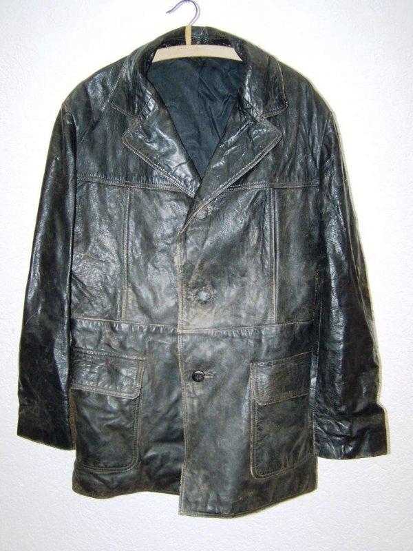 vieux noir veste moto veste en cuir voiture ancienne youngtimer ebay. Black Bedroom Furniture Sets. Home Design Ideas