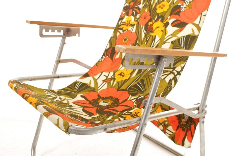 chaise pliante rda r tro culte ann es 70 camping d pliable longue ebay. Black Bedroom Furniture Sets. Home Design Ideas