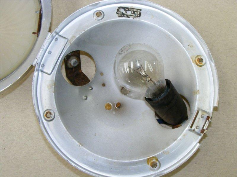 sch ne alte deckenlampen eisenbahn runde einbaulampe reichsbahn 24cm ebay. Black Bedroom Furniture Sets. Home Design Ideas