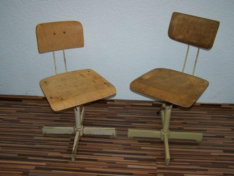 Vecchio Sedia Di Officina Design Sedia Girevole Vintage