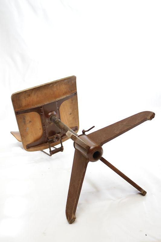 Antiguo madera silla de oficina giratoria loft arquitecto for Silla oficina madera