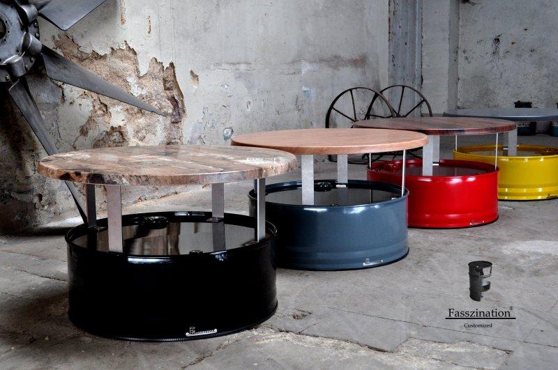 Fass Sessel Stuhl aus 200l Fass Ölfass Metallfass