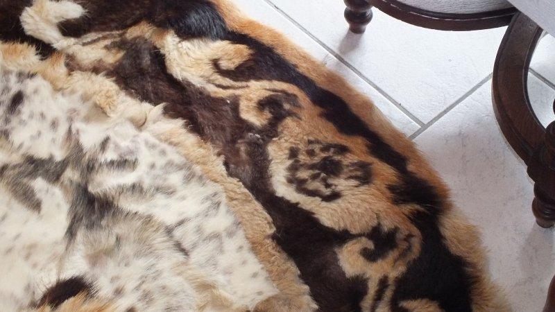 160cm Durchmesser Kuhfell Teppich Kunststück Pand