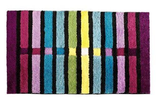 grund badematte gr 5 80 x 140 bunt blau schwarz lila badeteppich badgarnitur neu ebay. Black Bedroom Furniture Sets. Home Design Ideas
