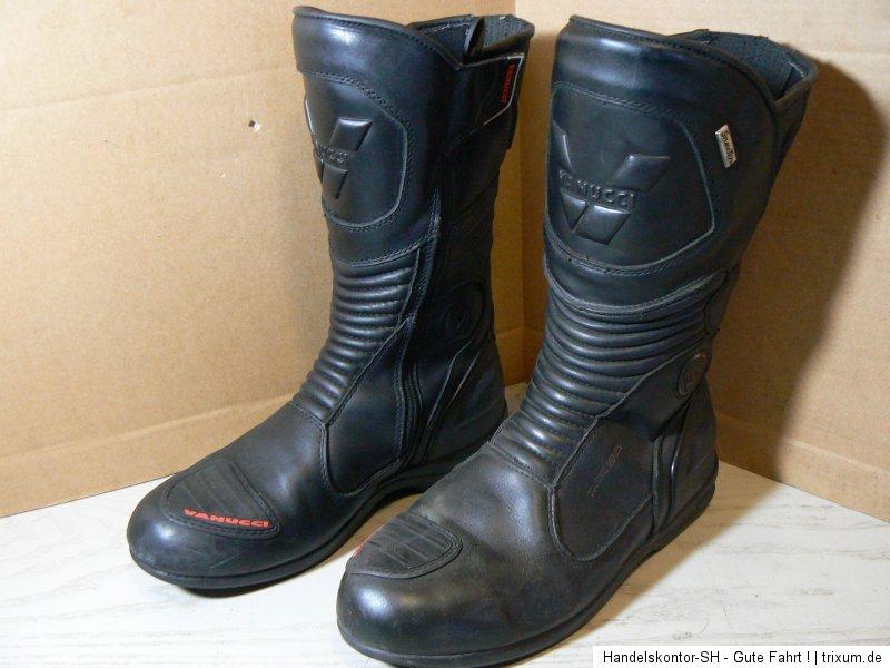 vanucci vtb2 motorrad stiefel boots gr 44 echtleder. Black Bedroom Furniture Sets. Home Design Ideas