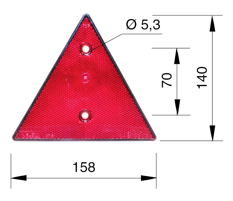 Tractor Reflective Triangles : Monark reflector triangle vintage tractor