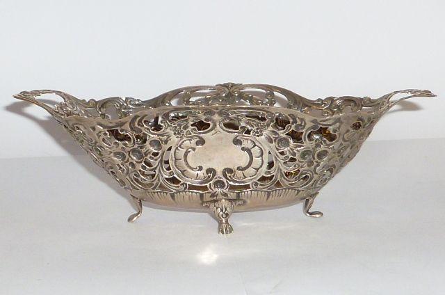 alte silberne schale 835er silber silver sch lchen 160gr hildesheimer rose 21cm ebay. Black Bedroom Furniture Sets. Home Design Ideas