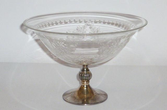 alte silberne schale 925er sterling silber silver obstschale fu schale glas 30er ebay. Black Bedroom Furniture Sets. Home Design Ideas
