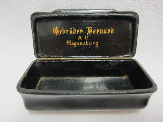 tabakdose gebr der bernard a g regensburg um 1930 selten ebay. Black Bedroom Furniture Sets. Home Design Ideas