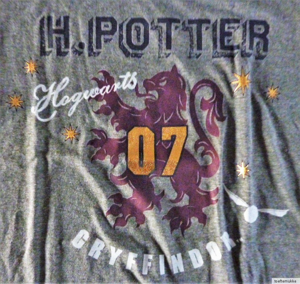 neu harry potter schlafanzug pyjama s m l xl hausanzug hogwarts gryffindor. Black Bedroom Furniture Sets. Home Design Ideas