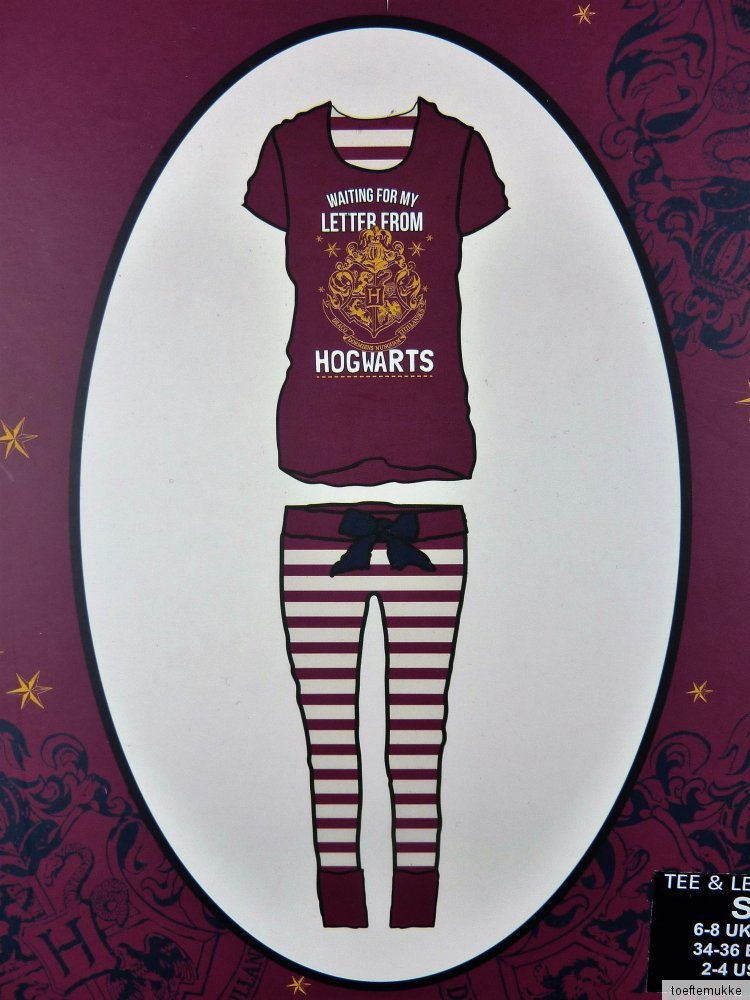 neu harry potter schlafanzug pyjama t shirt leggings. Black Bedroom Furniture Sets. Home Design Ideas