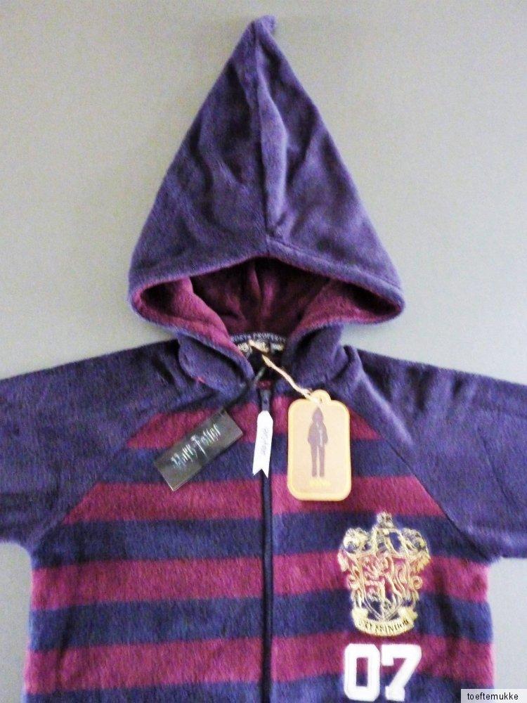 neu harry potter fleece jumpsuit s m l xl schlafanzug onesie hausanzug einteiler ebay. Black Bedroom Furniture Sets. Home Design Ideas