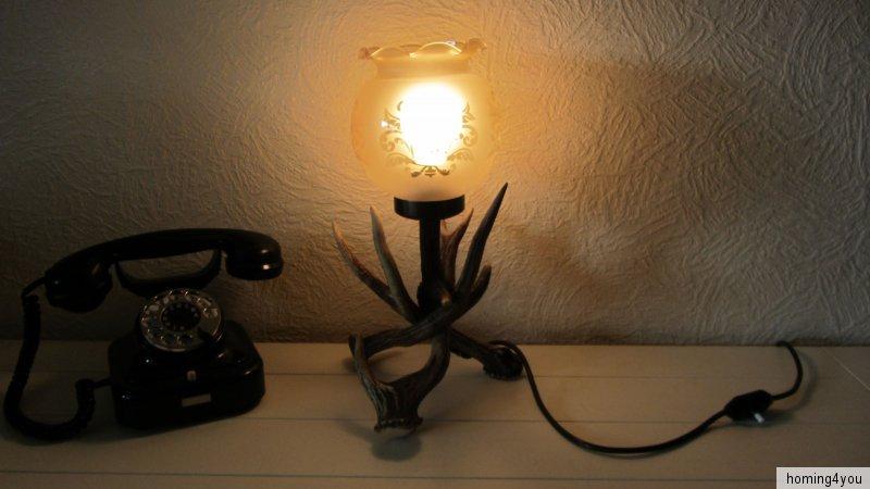 Geweih Lampe Tischlampe Jagd J Ger J Gerzimmer Glasschirm