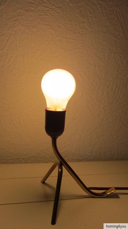kr henfu tisch leuchte mid century messing lampe vintage 50er jahre ebay. Black Bedroom Furniture Sets. Home Design Ideas