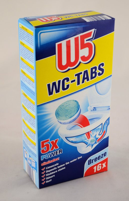 w5 wc tabs inhalt 16 x 25g tabs 400g ebay. Black Bedroom Furniture Sets. Home Design Ideas