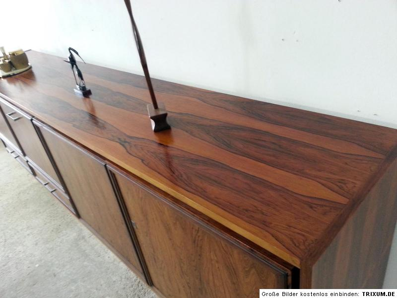 Palisander sideboard schrank kommode 60er 70er jahre 230cm for Kommode 70er