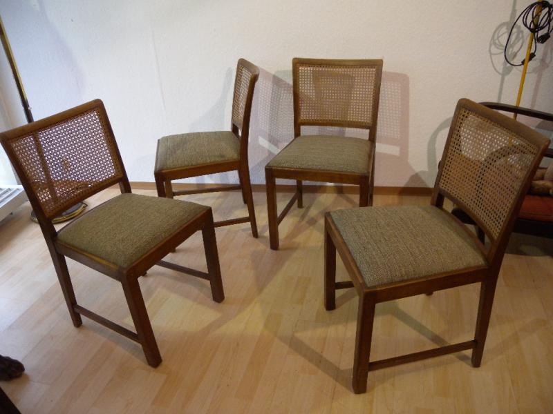 4 stk art deco st hle kirschbaum wohl deutsche werkst tten. Black Bedroom Furniture Sets. Home Design Ideas