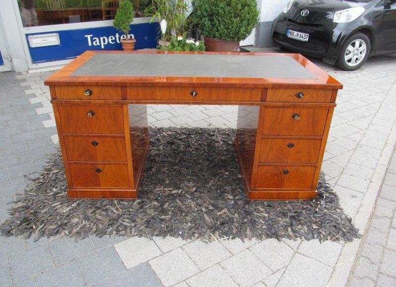 Schreibtisch biedermeier stil kirschbaum hand poliert ebay for Schreibtisch kirschbaum