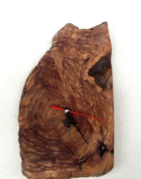 olivenholz wanduhr uhr quarzuhr rustikal oliven l baum holz 35 x 21 cm u17 ebay. Black Bedroom Furniture Sets. Home Design Ideas
