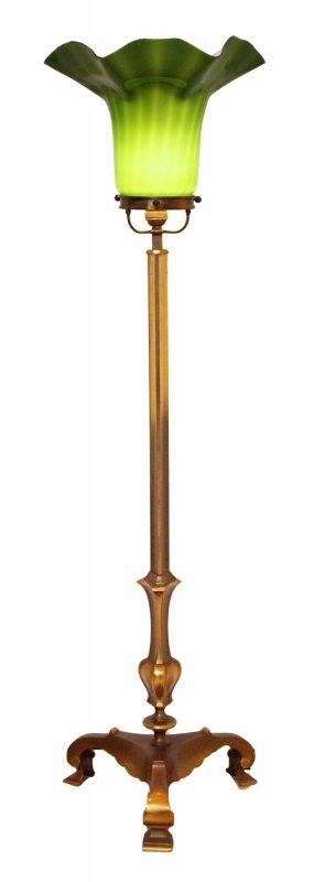sammler orig jugendstil stehlampe tulip berlin messing 130 cm deckenfluter ebay. Black Bedroom Furniture Sets. Home Design Ideas
