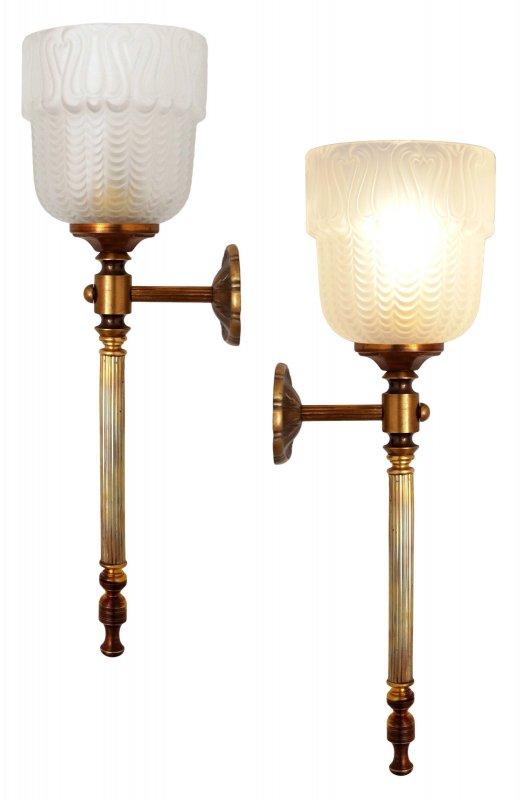2 stk klassische art d co wandleuchte wandlampe messing einzelst cke ebay. Black Bedroom Furniture Sets. Home Design Ideas