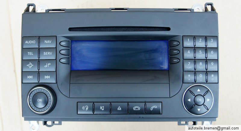 mercedes benz a klasse navigation radio a1698205089. Black Bedroom Furniture Sets. Home Design Ideas
