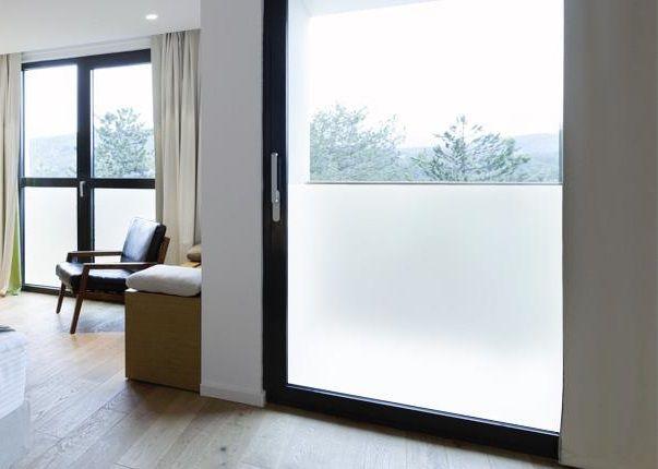 6 57 m sichtschutz milchglasfolie spiegelfolie fenster. Black Bedroom Furniture Sets. Home Design Ideas