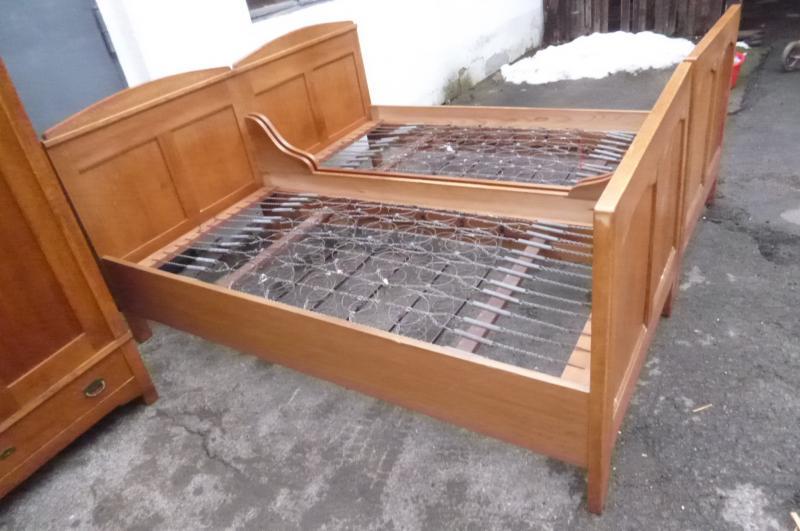 2 alte betten altes bett doppelbett jugendstil 20er jahre ebay. Black Bedroom Furniture Sets. Home Design Ideas