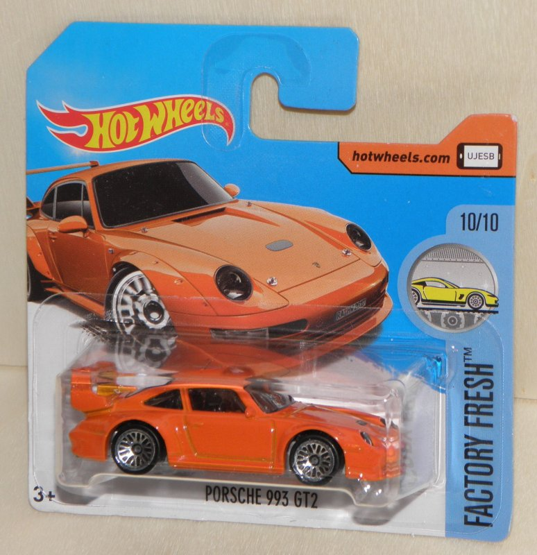 porsche 993 gt2 orange hot wheels modell auto reihe hw factory fresh neu ebay. Black Bedroom Furniture Sets. Home Design Ideas