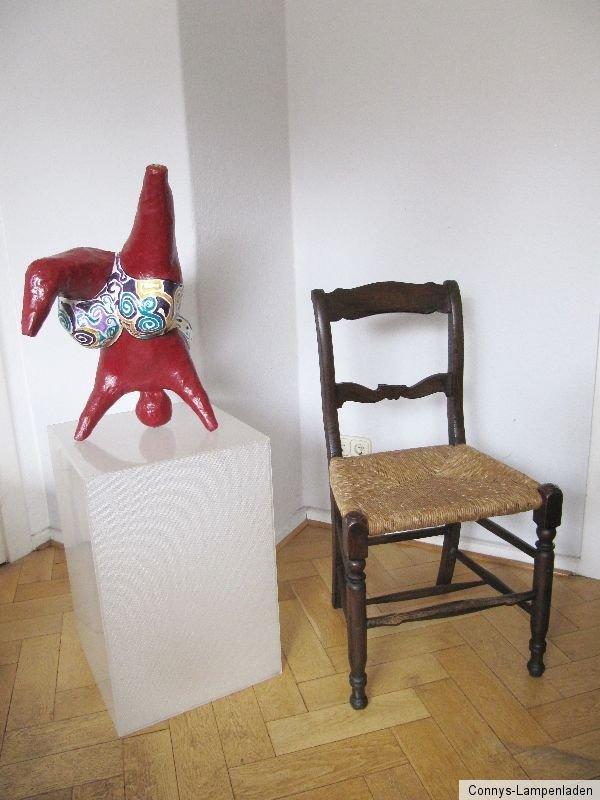 1 sehr alter worpsweder stuhl mit binsengeflecht bastgeflecht ebay. Black Bedroom Furniture Sets. Home Design Ideas