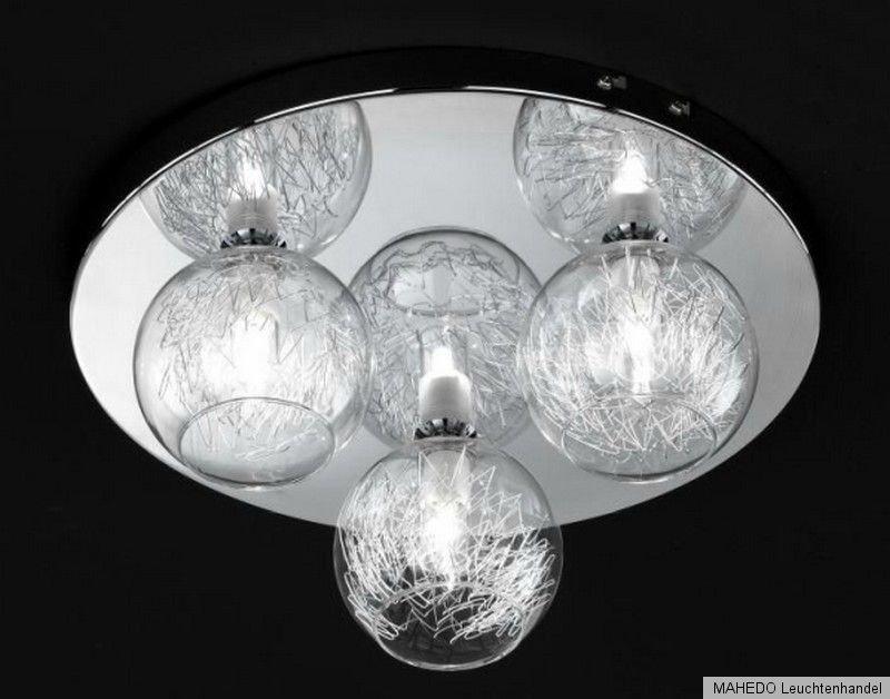 deckenleuchte deckenlampe wofi empire 3x halogen draht kugeln modern chrom glas. Black Bedroom Furniture Sets. Home Design Ideas