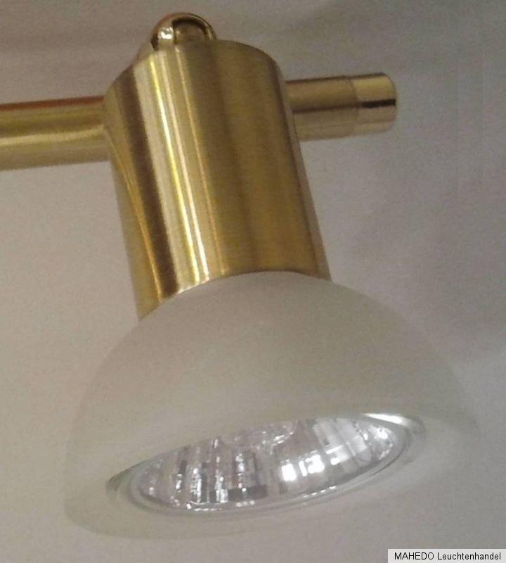 deckenleuchte deckenlampe deckenstrahler spot edi light 3 gu10 messing matt glas ebay. Black Bedroom Furniture Sets. Home Design Ideas