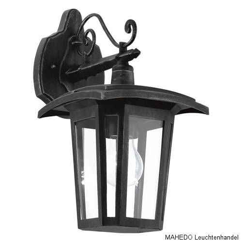 au en au enleuchte au enlampe wandleuchte wandlampe laterne eglo teora schwarz ebay. Black Bedroom Furniture Sets. Home Design Ideas
